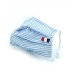 Masque en tissu - masque barrière rayure bleu clair