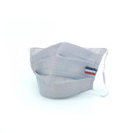 Masque en tissu - masque barrière rayure noir