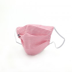 Masque en tissu - masque barrière rose
