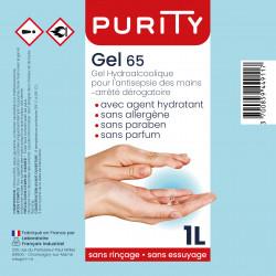 Bouteille de un litre - gel hydroalcoolique - PURITY - Description