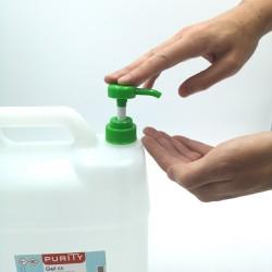 Gel hydroalcoolique en bidon avec pompe de 5 litres détail de la pompe