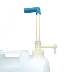 Gel hydroalcoolique en bidon avec pompe de 20 litres détail de la pompe haut