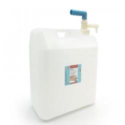 Gel hydroalcoolique en bidon avec pompe de 20 litres vue de coté