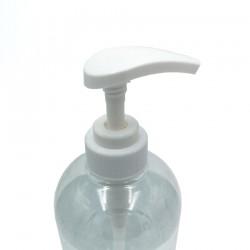 Gel hydroalcoolique en bouteille avec pompe de 1 litre détail de la pompe