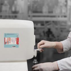 Bouchon pour bidon de vingt litres de gel hydroalcoolique PURITY - Utilisation