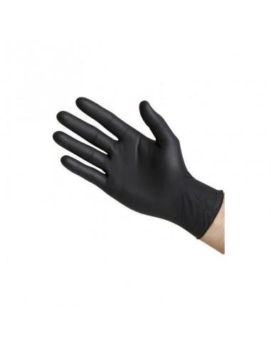 Boite de 100 gants NOIRS nitrile...