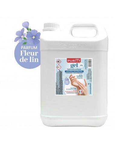 Bidon de 5 litres - Gel Hydroalcoolique Purity 703 - Parfum Fleur de Lin