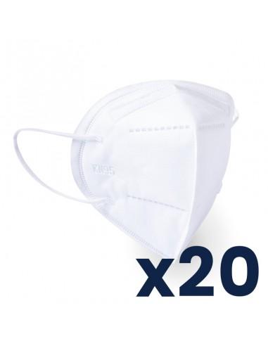 Pack de 20 masques FFP2 - Type KN-95 - Norme FDA
